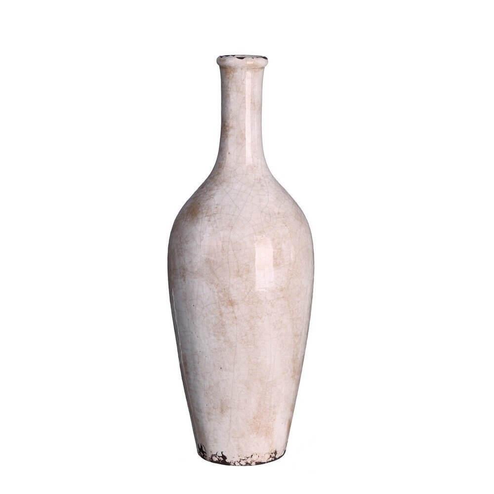 Jarrón de cerámica con dimensiones 15,50x15x50x47 cm