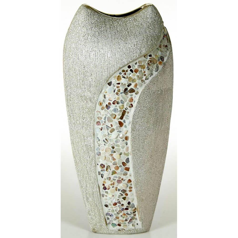 Jarrón de cerámica de dimensiones 29,5x16x12 cm
