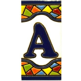 Letras y números de cerámica. Diseño MOSAICO MINI 7,3 cm x 3,5 cm