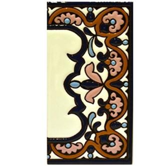 Letreros cerámicos Diseño ARCO GRANDE 14,9 cm x 7,4 cm. (MARGEN CENEFA)
