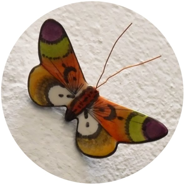 mariposas de ceramica