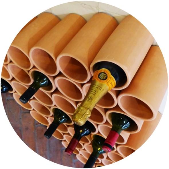 botellero ceramico