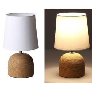 Lámpara marrón moderna de cerámica