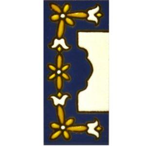 Letras y números de cerámica. Diseño AZUL MINI 7,3 cm x 3 cm. MARGEN CENEFA