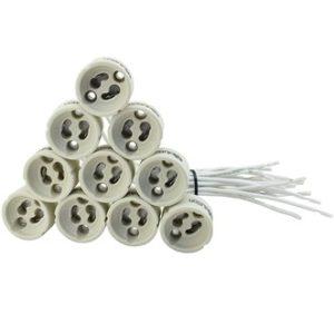 Zócalo Cerámica Paquete de 10 unidades para LED y halógeno