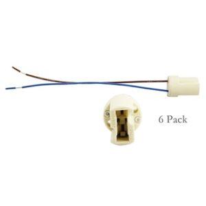 Zócalo para lámparas halógenas de cerámica 6Pack G9